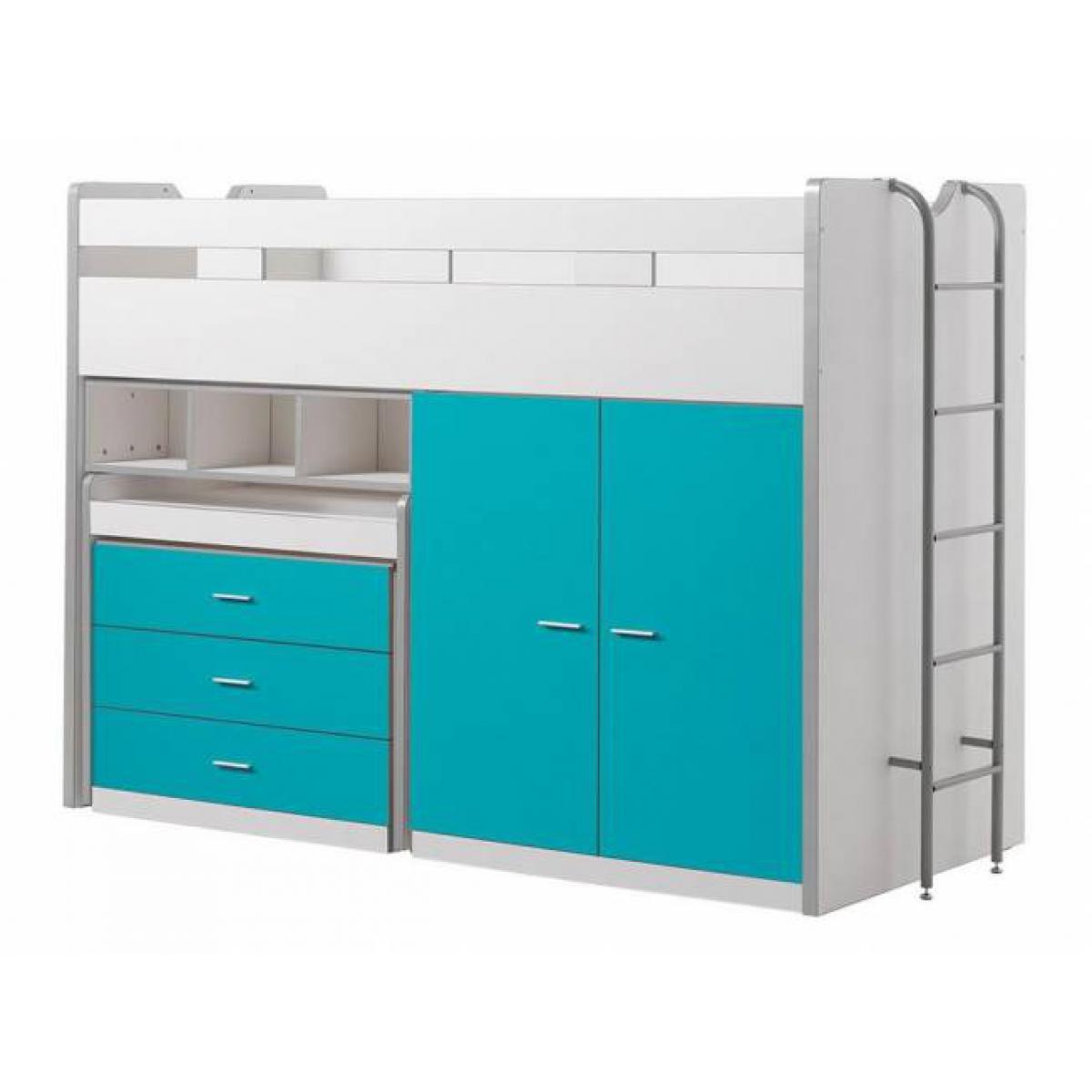 Vipack Vipack Lit mezzanine Bonny 90 x 200 cm Turquoise