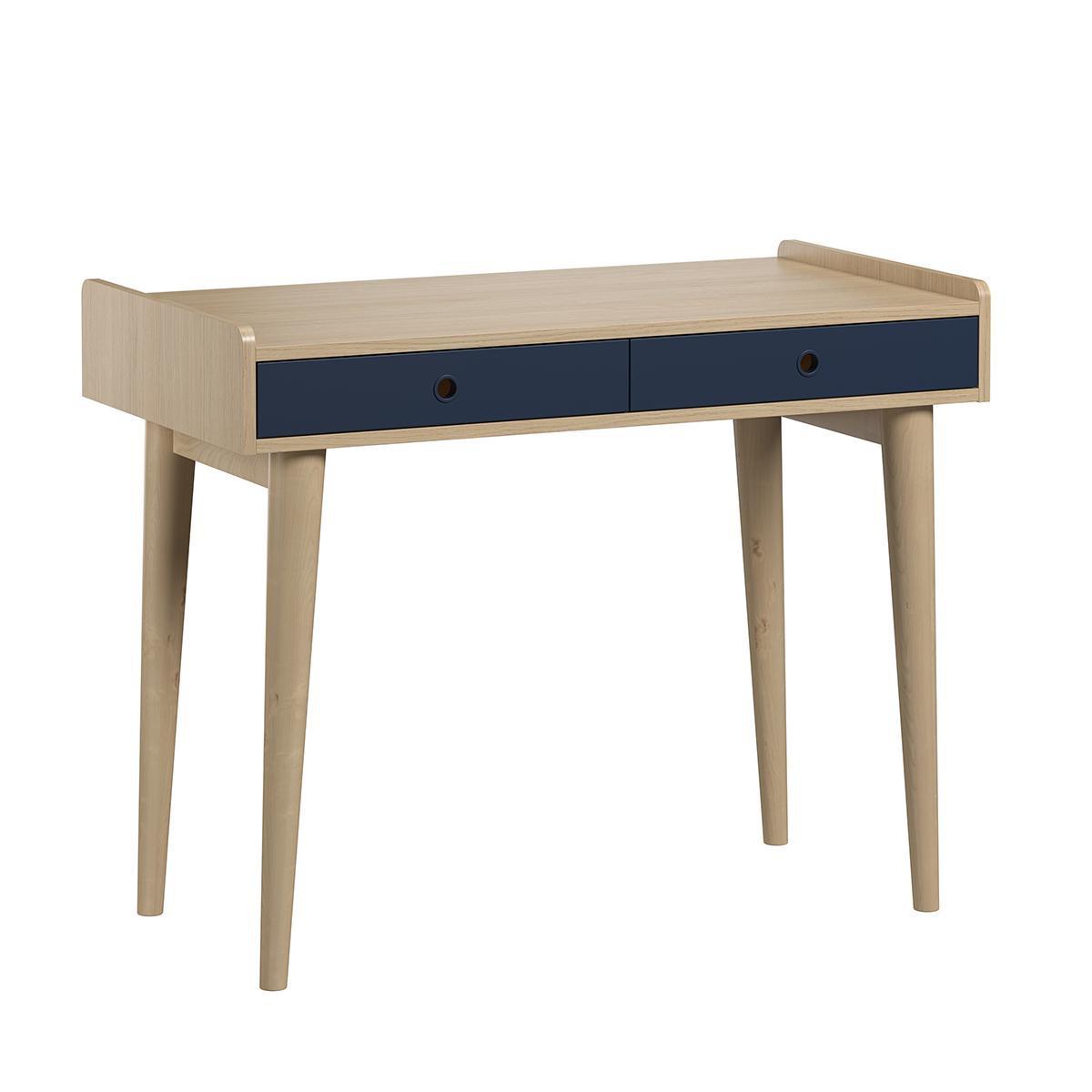 Vox Bureau 2 tiroirs Retro - Bois Bleu