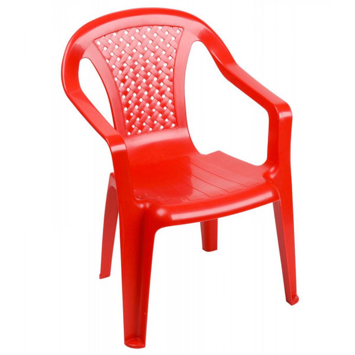 Wadiga Chaise de Jardin pour Enfant Plastique Rouge Empilable