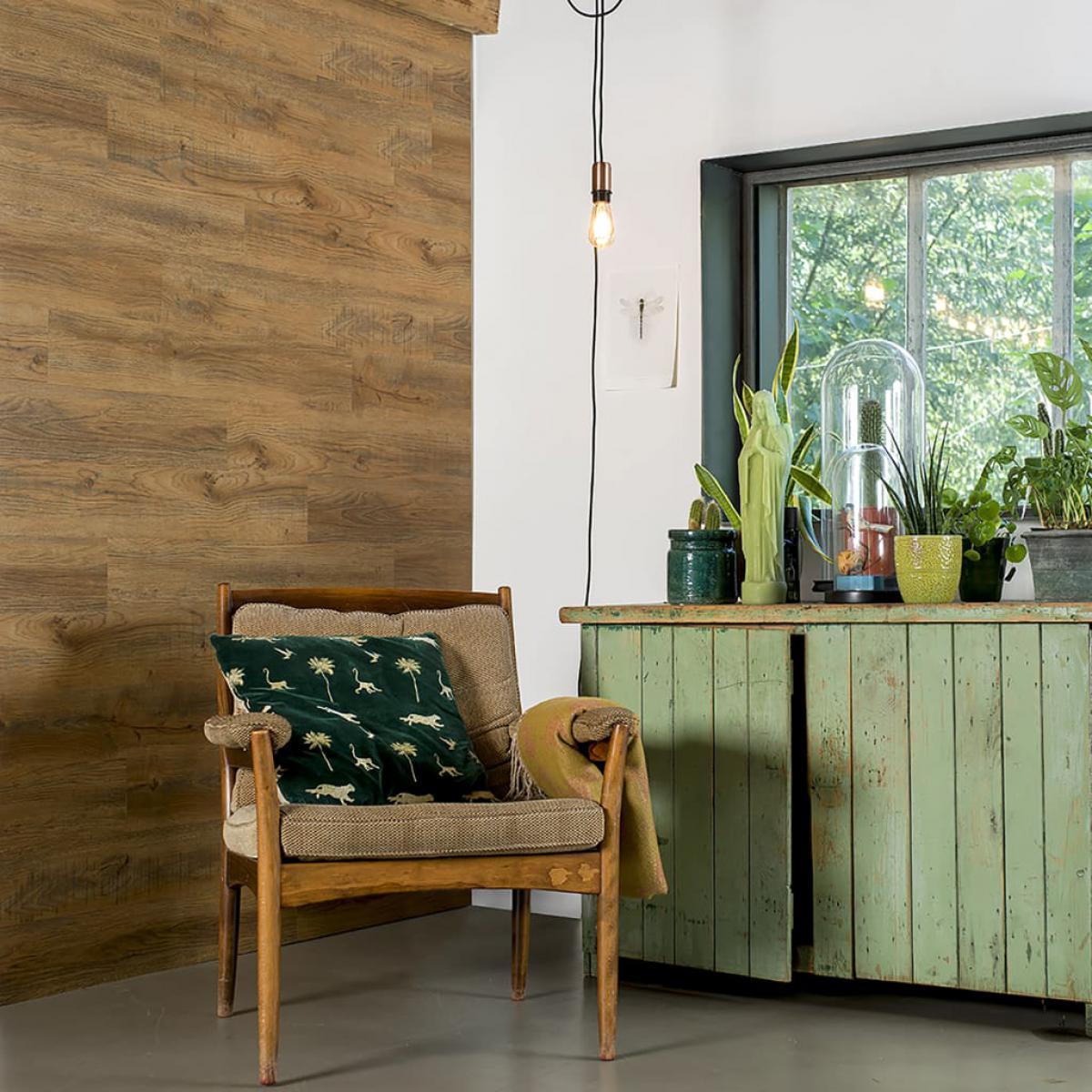 Wallart WallArt Planches d'aspect de bois Chêne de récupération Marron rouille