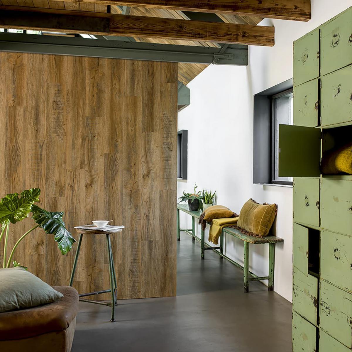 Wallart WallArt Planches d'aspect de bois Chêne de récupération Marron vintage