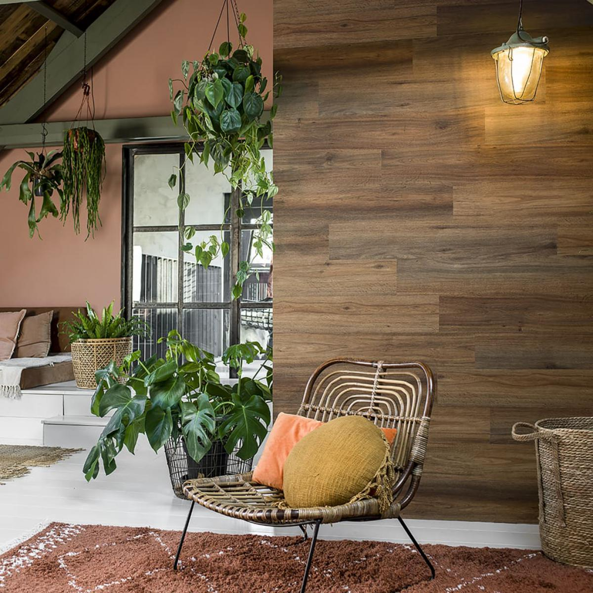 Wallart WallArt Planches d'aspect de bois Chêne naturel Marron sellerie