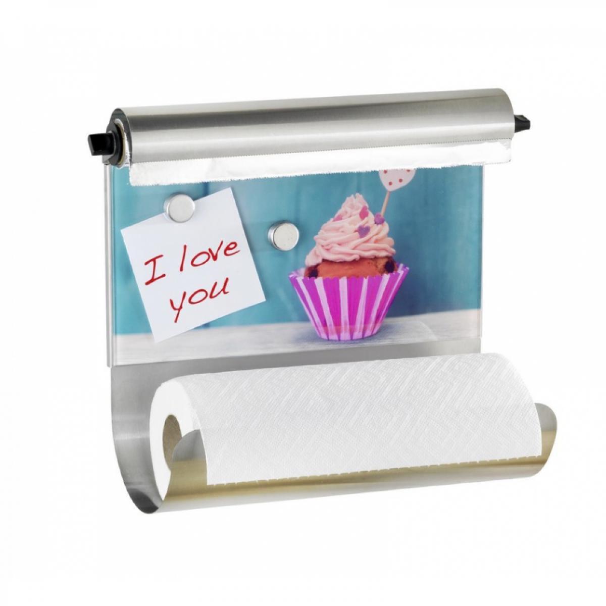 Wenko Porte essuie-tout avec tableau magnétique - Cupcake