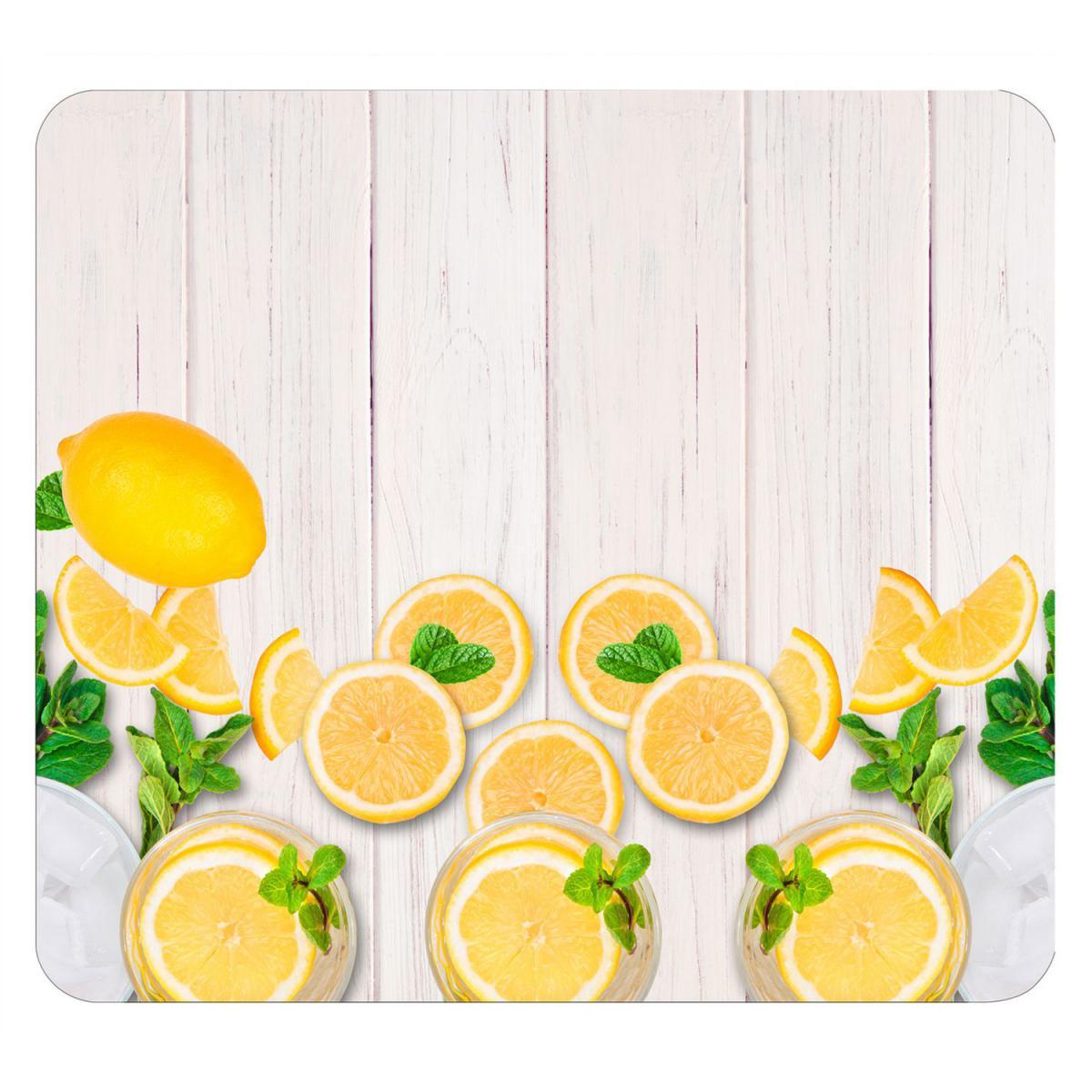 Wenko Protège-plaque vitrocéramique Citrons - L. 50 x l. 56 cm - Jaune