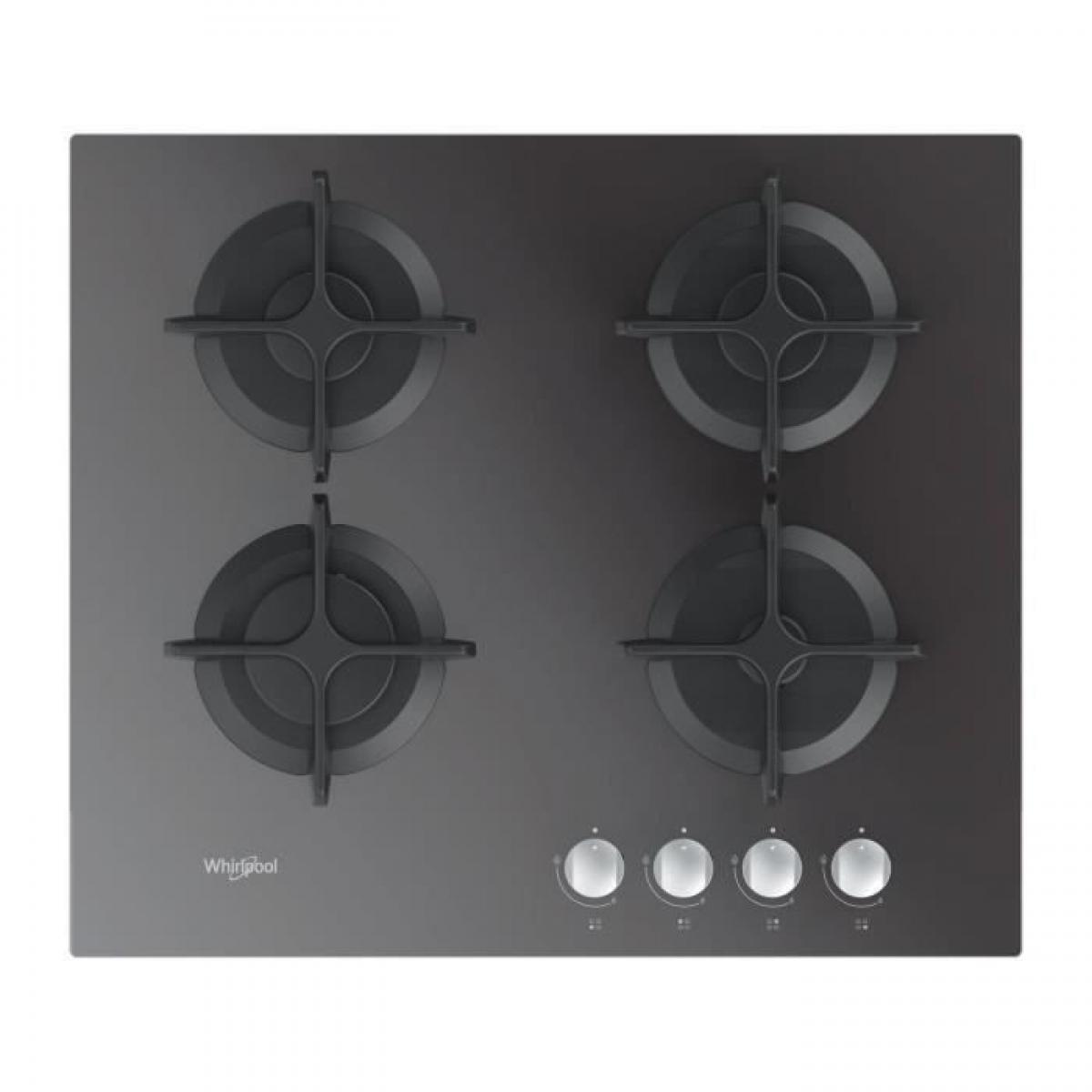 whirlpool WHIRLPOOL - Table gaz verre miroir - 60 cm