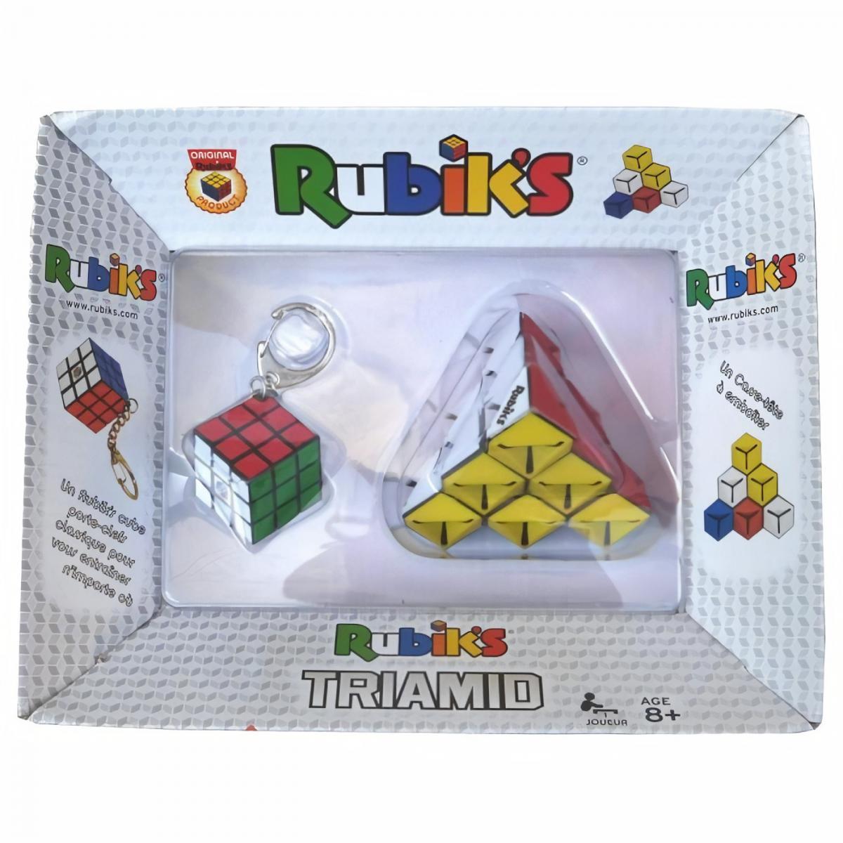 Win Games Pack Rubik's : Triamid et Porte clé