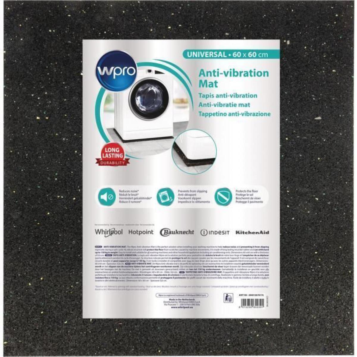 Wpro WPRO ANT100 - Tapis anti-vibration pour lave-linge - 60x60cm