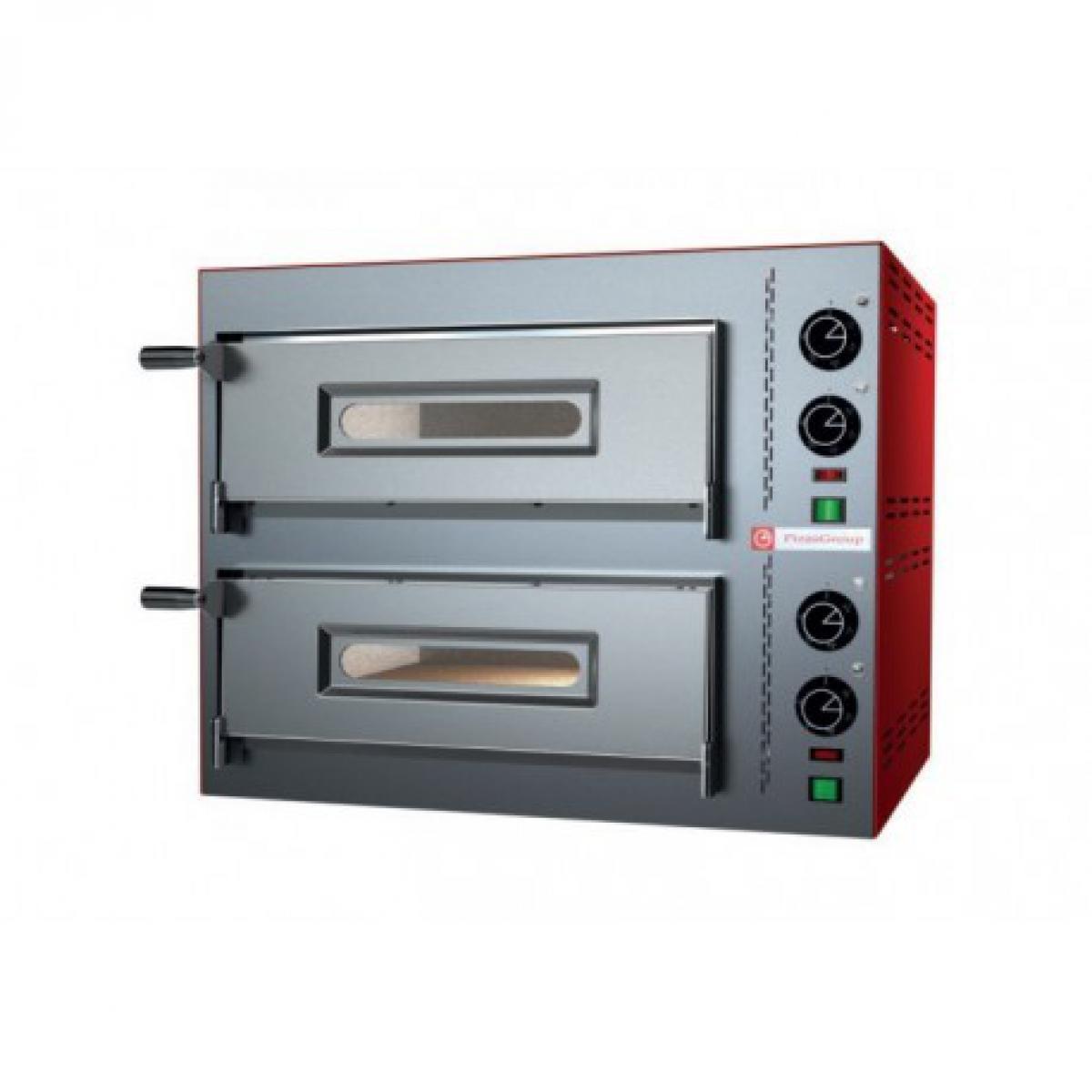Yarrah Four a pizza double électrique pour pizzeria - 4 pizzas 7,2 kW - Pizzagroup -