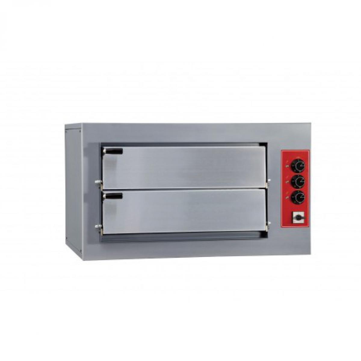 Yarrah Four à pizza double électrique professionnel - 4 pizzas 7,5 kW - Pizzagroup -