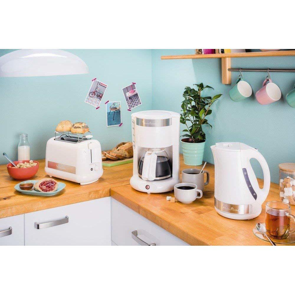 Moulinex cafetière électrique de 1,25L pour 10 a 15 tasses blanc