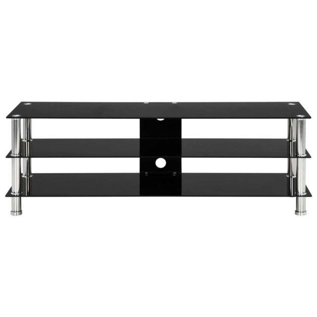 icaverne meubles audio video pour home cinema ligne meuble tv noir 120 x