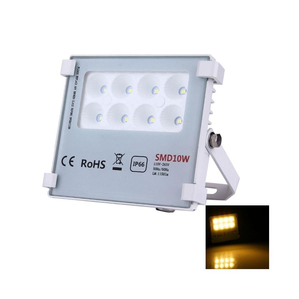 Wewoo Projecteur LED blanc 10W 8 LEDs SMD-2835 1150 LM IP66 Imperméable à l'eau Lampe d'inondation LED, AC 110-265V chaud