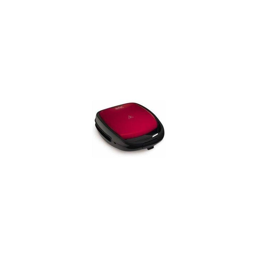 Tefal gaufrier électrique pour gaufres et croque-monsieurs 700W rouge noir
