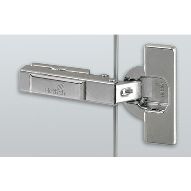 Hettich France - Charnière HETTICH 110° Intermat 9943 en semi-applique - Base 3 mm - TH 43 pour porte 15 à 25mm - À enfoncer - 48054 - Hettich France
