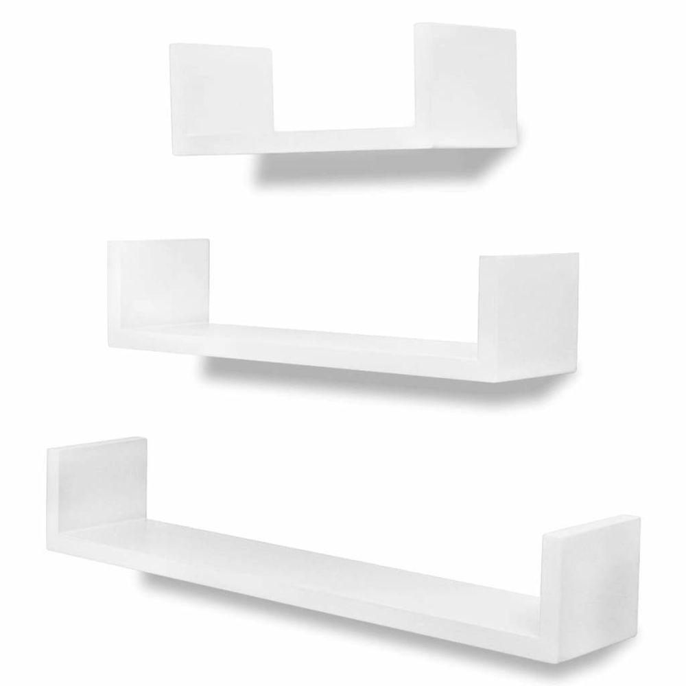 Helloshop26 Étagère armoire meuble design murales 6 pcs blanc 2702253