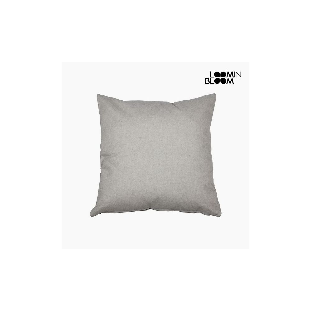 Looming Bloom Coussin Coton et polyester Gris (60 x 60 x 10 cm) by Loom In Bloom