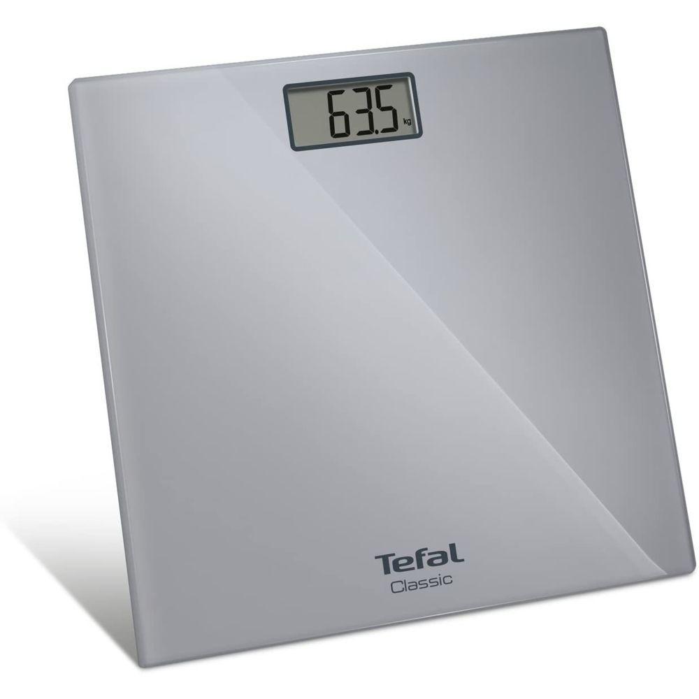Tefal Pèse Personne Électronique Classic Ultra-fin avec écran LCD 160kg gris