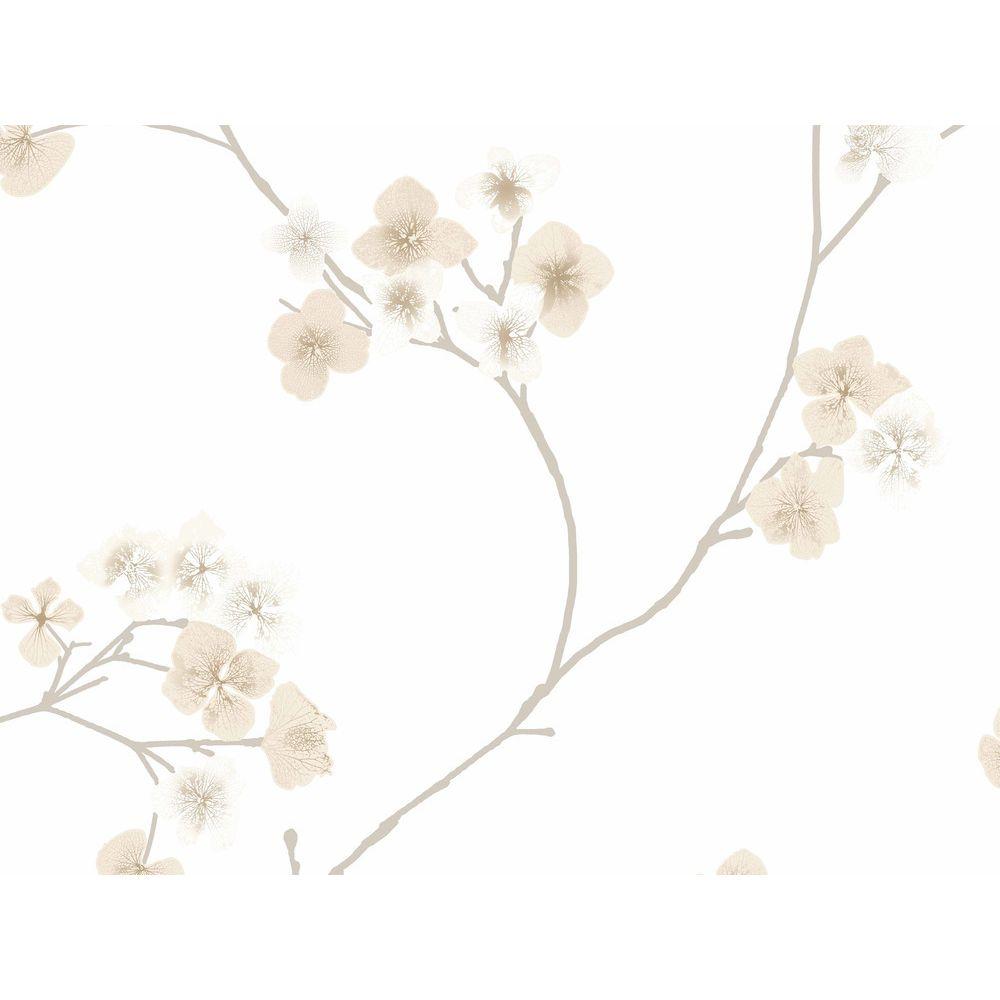 Graham Papier peint vinyle grainé intissé motif fleur cerisier naturel RADIANCE