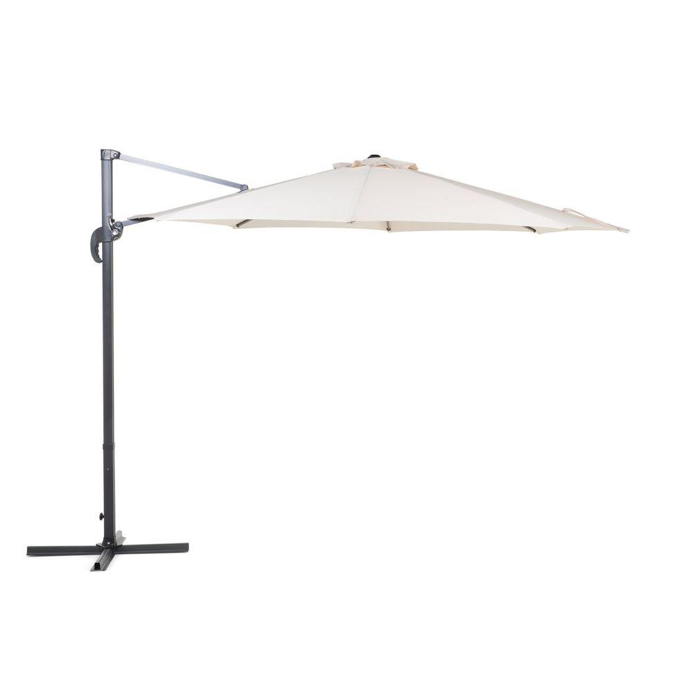 Beliani Beliani Grand parasol de Jardin beige clair Ø 300 cm SAVONA - beige