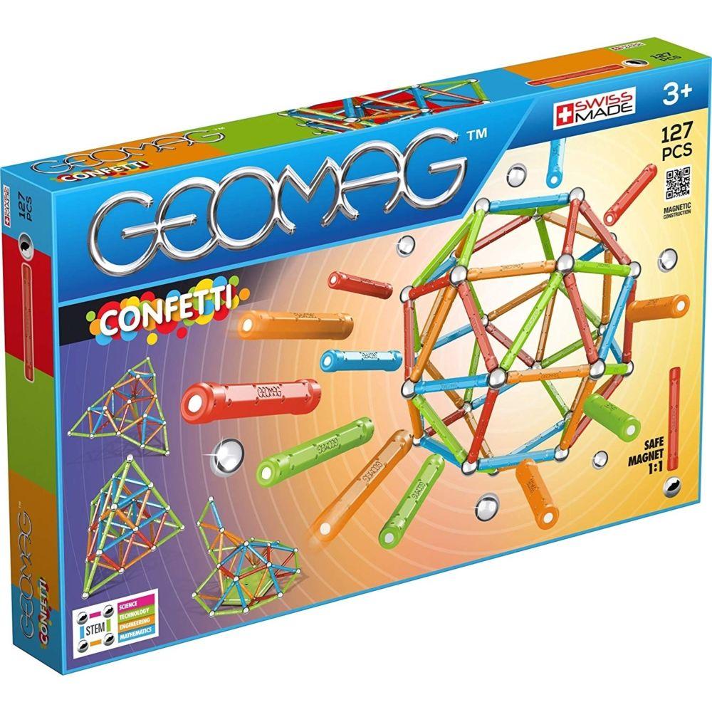 Geomag GEOMAG Blocs magnétiques Confetti 127 éléments GEO-354