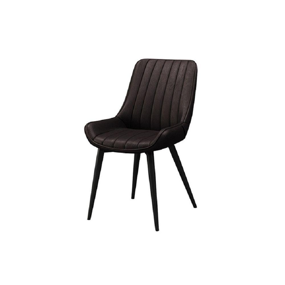Wewoo Chaise de bureau nordique légère en fer forgé de luxe simplecanapé moderne moelleuxchaise de salle à manger brun
