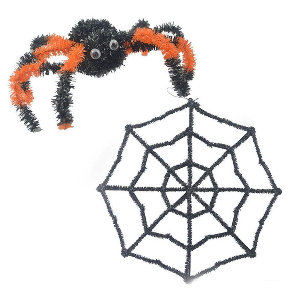 Marque Generique Halloween Props Horreur Decoratif Toile D Araignee En Plastique Net Couleur Araignee Modele Objets Deco Rue Du Commerce