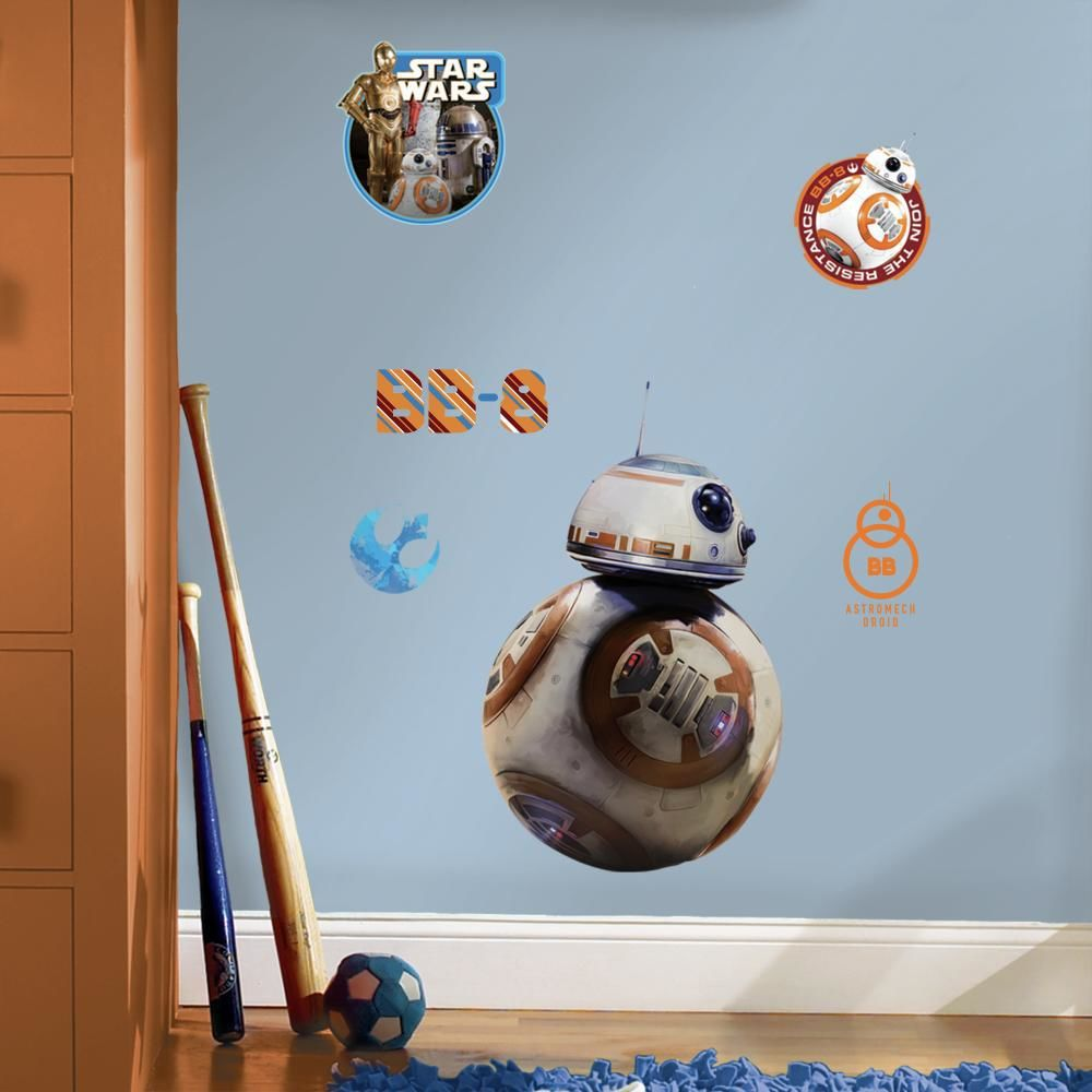 Mon Beau Tapis STAR WARS EP VII DROIDE BB-8 - Stickers repositionnables droïde BB-8, Star Wars Episode VII 49x30