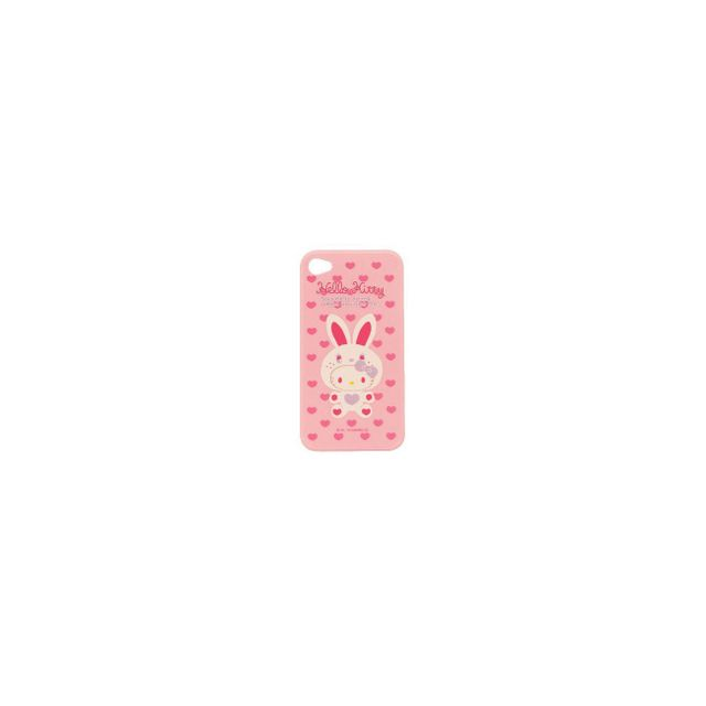 Hello Kitty - Coque arrière Hello Kitty COLLECTOR lapin blanc pour iPhone 4 / 4S - Coque, étui smartphone