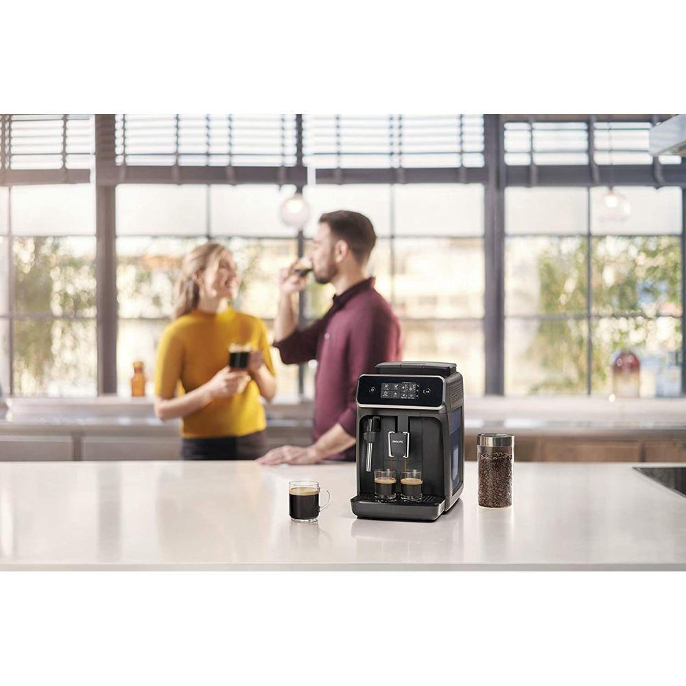 Philips Machine Espresso automatique de 1,8L avec Mousseur à lait 1500W Noir gris