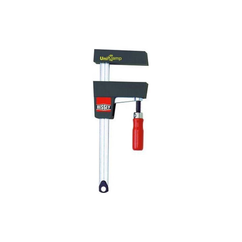 Bessey UniKlamp UK, Capacité de serrage : 600 mm, Larg. : d'ouverture 172-720 mm, Portée 80 mm, Glissière : 20 x 5 mm