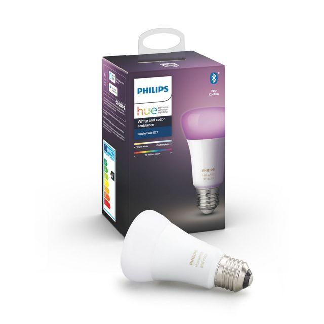 PHILIPS HUE - White & Color - Ampoule 10W E27 x1