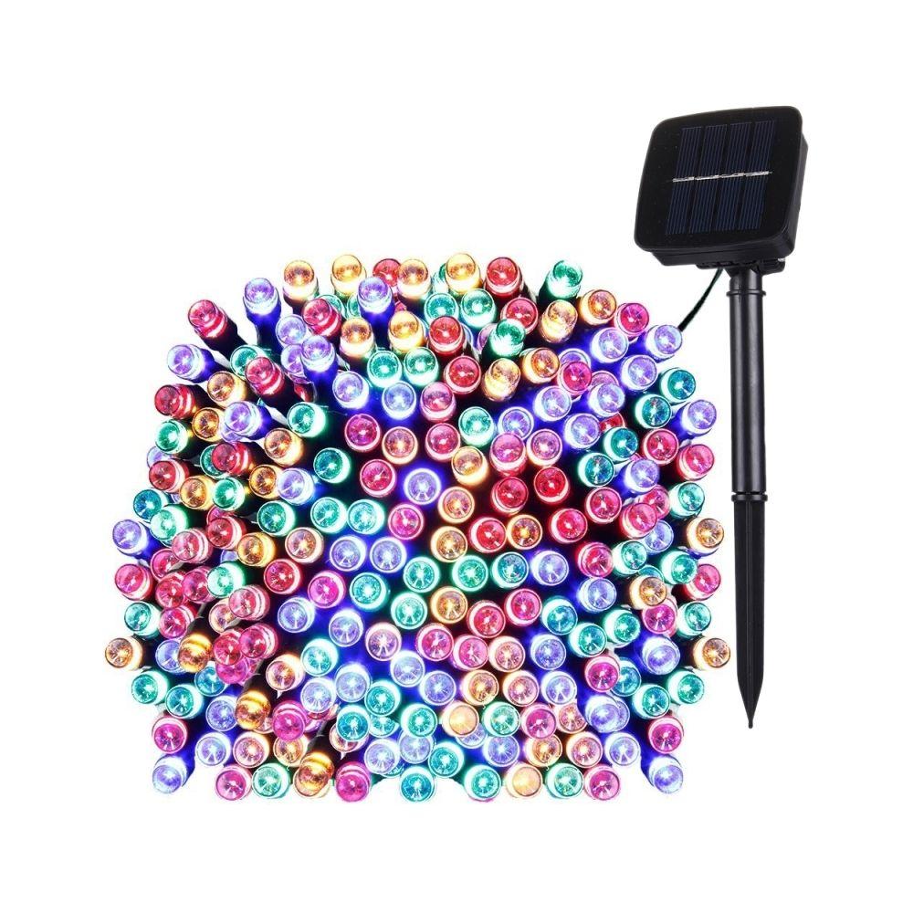 Wewoo Guirlande 17m 100 LEDs IP44 Panneau solaire étanche fée lampe vacances décorative lumière colorée