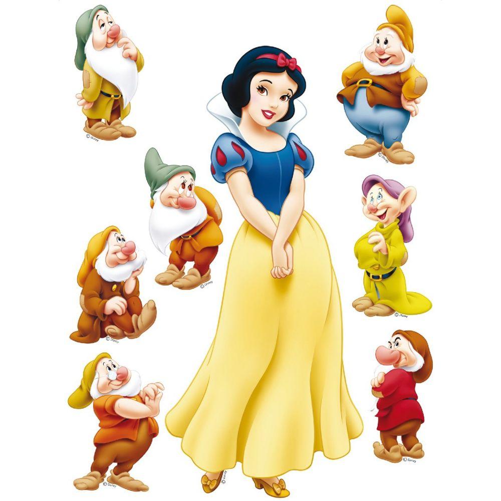 Bebe Gavroche Sticker géant Blanche Neige et 7 Nains Princesse Disney