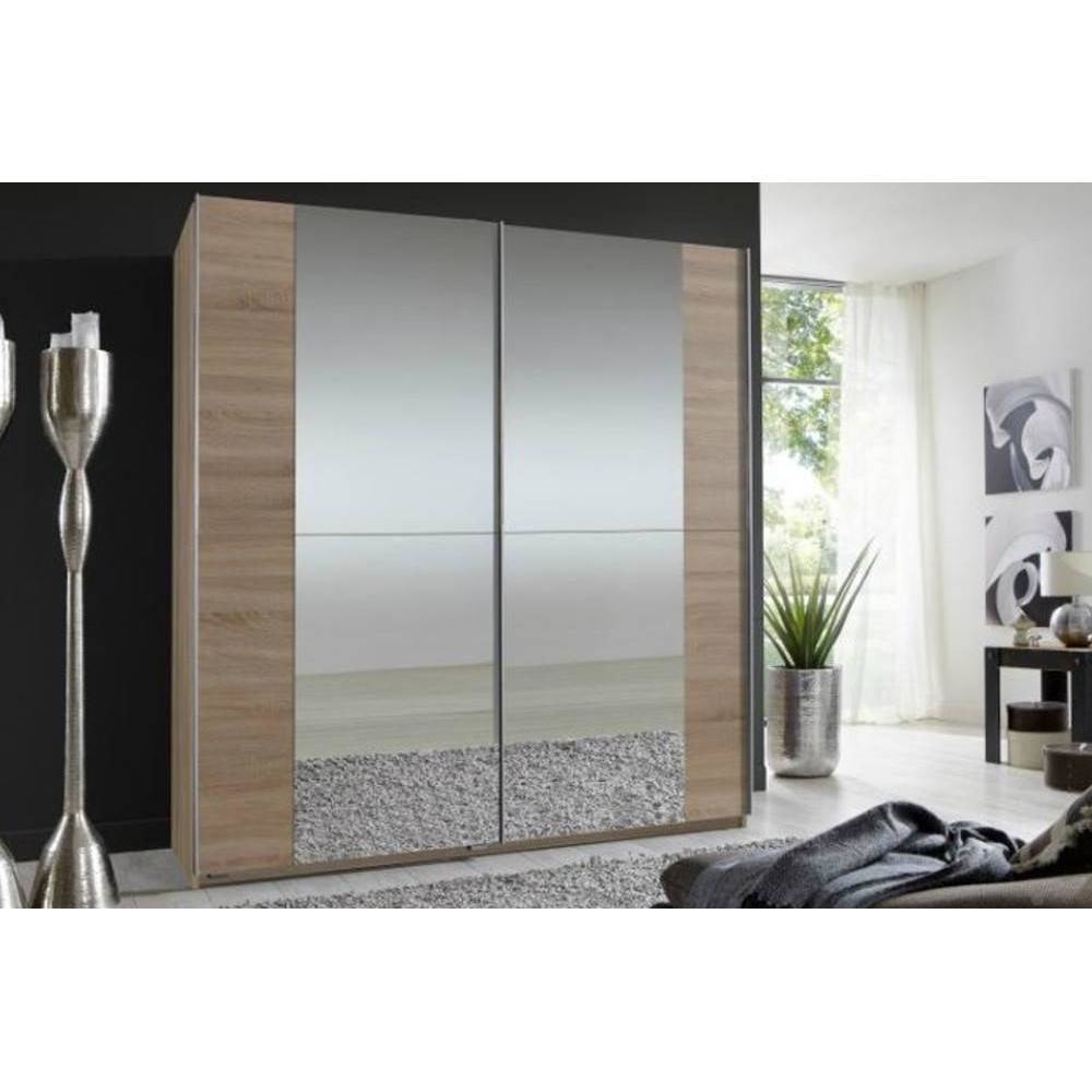 Inside 75 Dressing portes coulissantes miroirs FLOYD 179 cm chêne