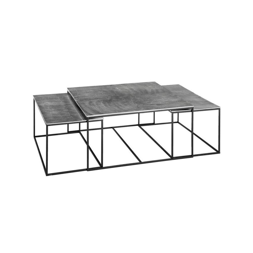 Tousmesmeubles Tables basses gigognes Métal/Aluminium - ALYUK