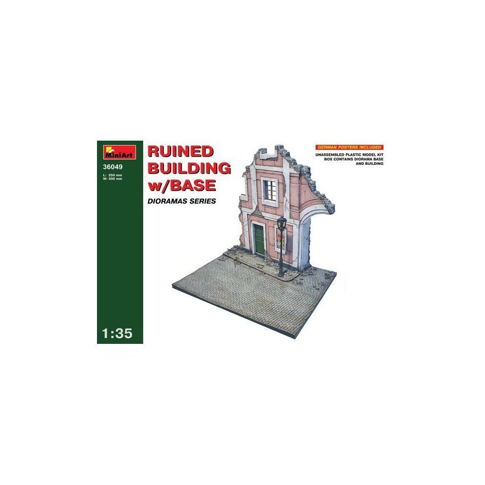 Mini Art Ruined Building W/base - Décor Modélisme