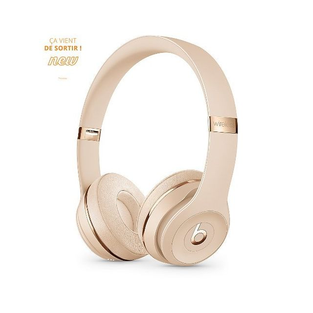 Beats - Casque bluetooth Solo3 Wireless – Satin gold - Casque
