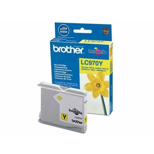 Brother - BROTHER - Cartouche d'encre Jaune - 300 pages - LC970Y - Brother