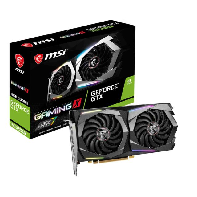 Carte Graphique NVIDIA Msi Geforce GTX 1660 Super - GAMING X - 6 Go