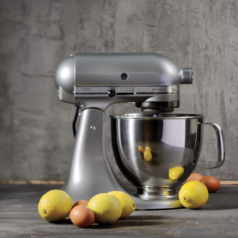 Kitchenaid robot multifonction de 4,8L 300W gris argent