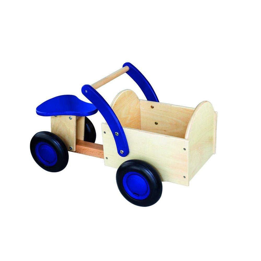 New Classic Toys Porteur naturel/bleu