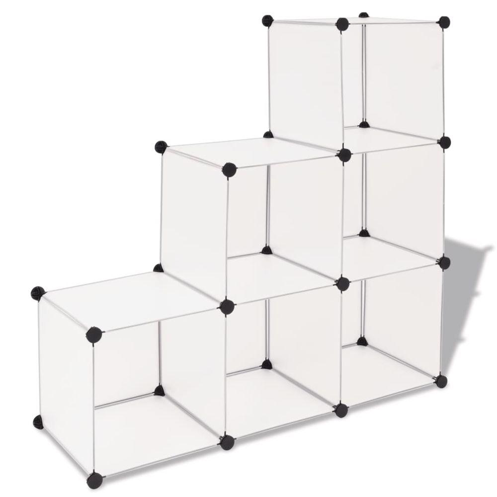Vidaxl vidaXL Organisateur de rangement cube avec 6 compartiments Blanc