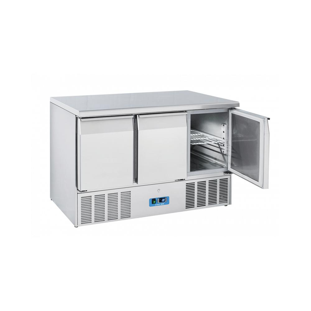 Materiel Chr Pro Table Réfrigérée Positive Inox 3 Portes - Profondeur 700 - Cool Head - R290 700