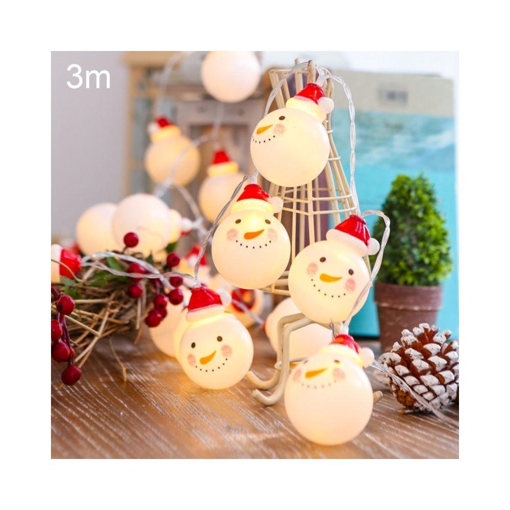 Wewoo Guirlande LED 3m bonhomme de neige vacances lumineuse, 20 LEDs USB Plug Warm Warm Fairy Lampe décorative pour Noël, fête