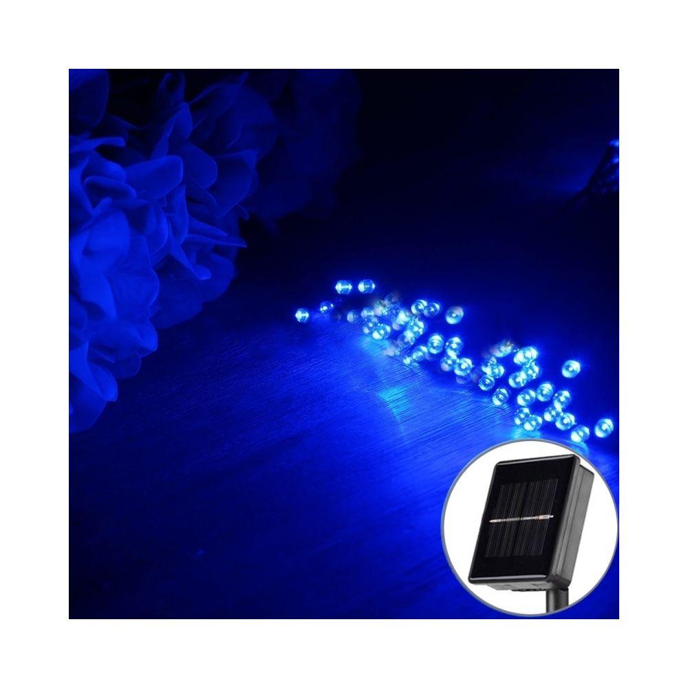 Wewoo Guirlande Lumières de ficelle de féerie de panneau solaire du 200 LED de 20m avec le câble prolongé par 1.9m lumière ble