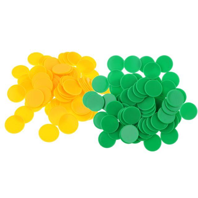 200x puces de poker en plastique marqueurs de bingo-test jetons jeu jouet