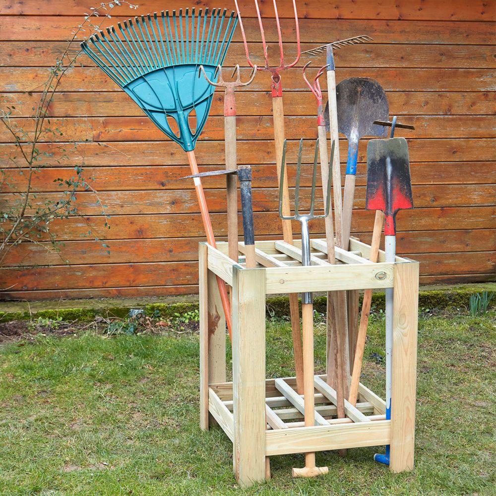 Cemonjardin Range outils de jardin en bois