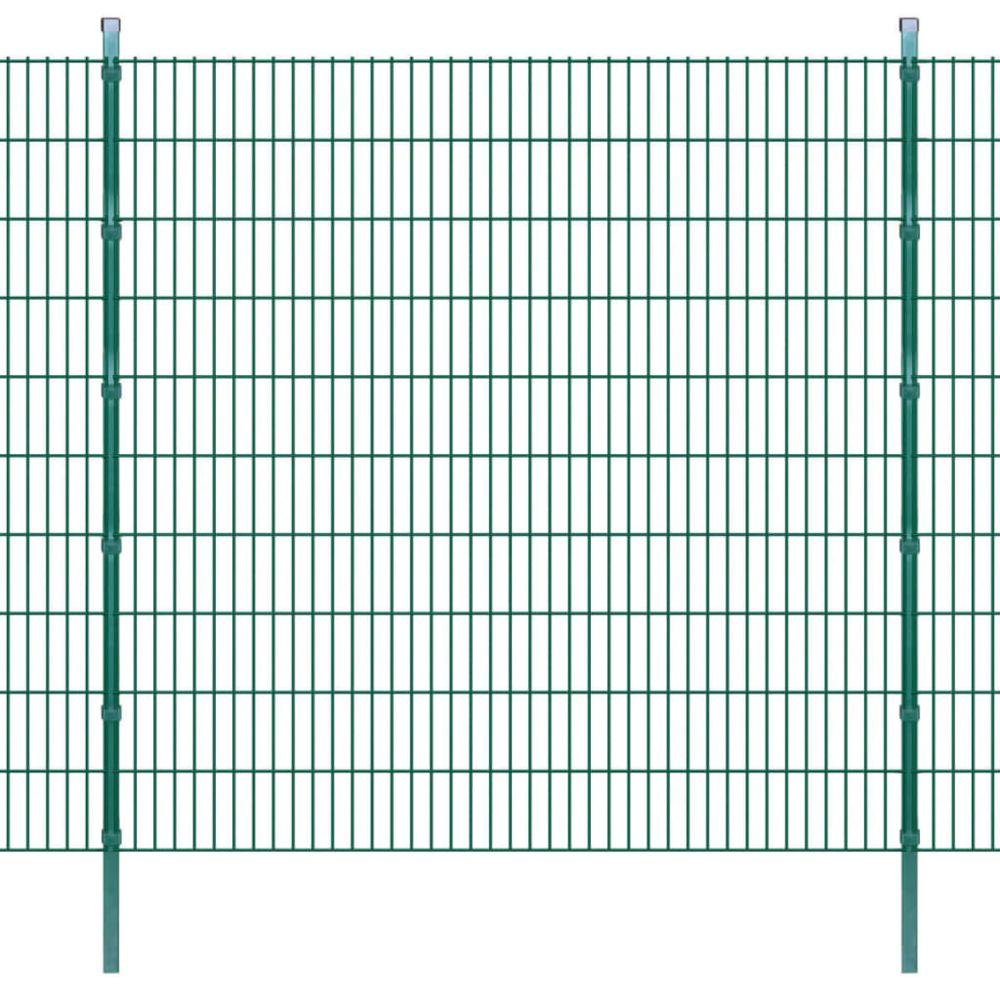 Uco UCO Panneaux et poteaux de clôture 2D pour jardin 2008x2030 mm 10 m