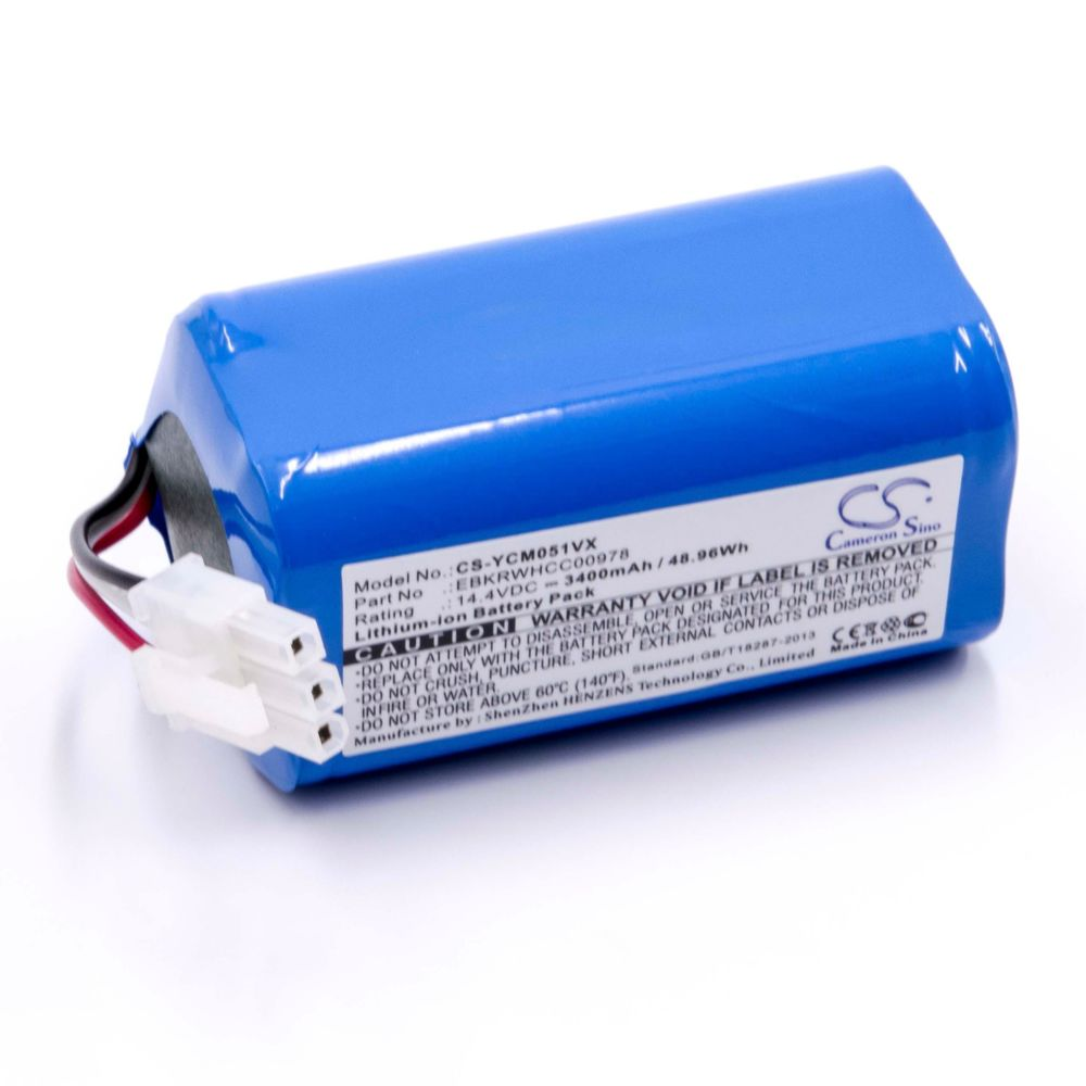 Vhbw vhbw Li-Ion batterie 3400mAh (14.4V) pour robot aspirateur Home Cleaner robots domestiques come iCLEBO EBKRWHCC00978