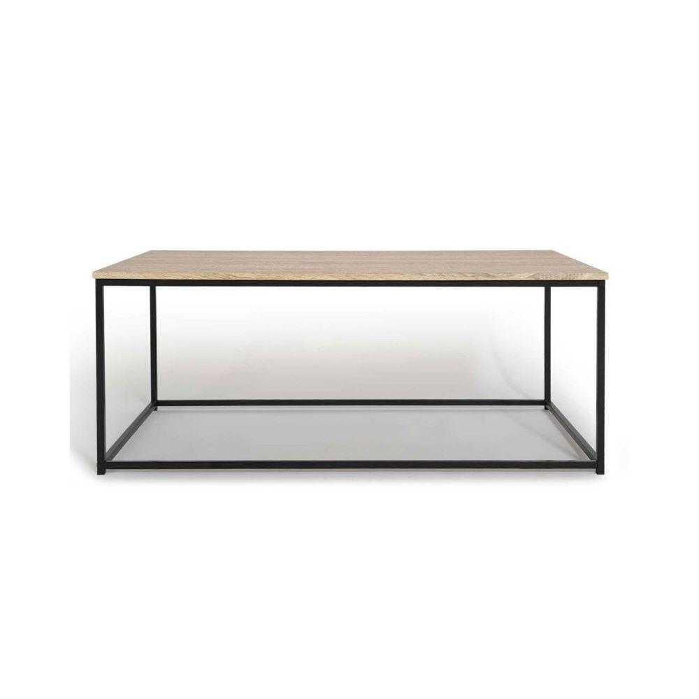 Idmarket - Table basse DETROIT design industriel bois et métal noir